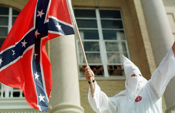 The ku Klux Klan flag appeared in the White house
